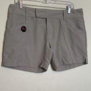 "Hurley Vtg 5"" Light Weight Zip Front Shorts Sz 12"